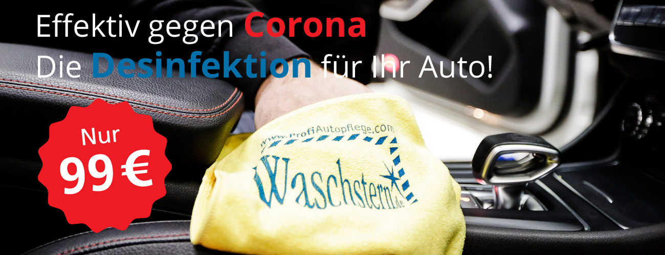 Desinfektion des Fahrzeuges gegen Corona